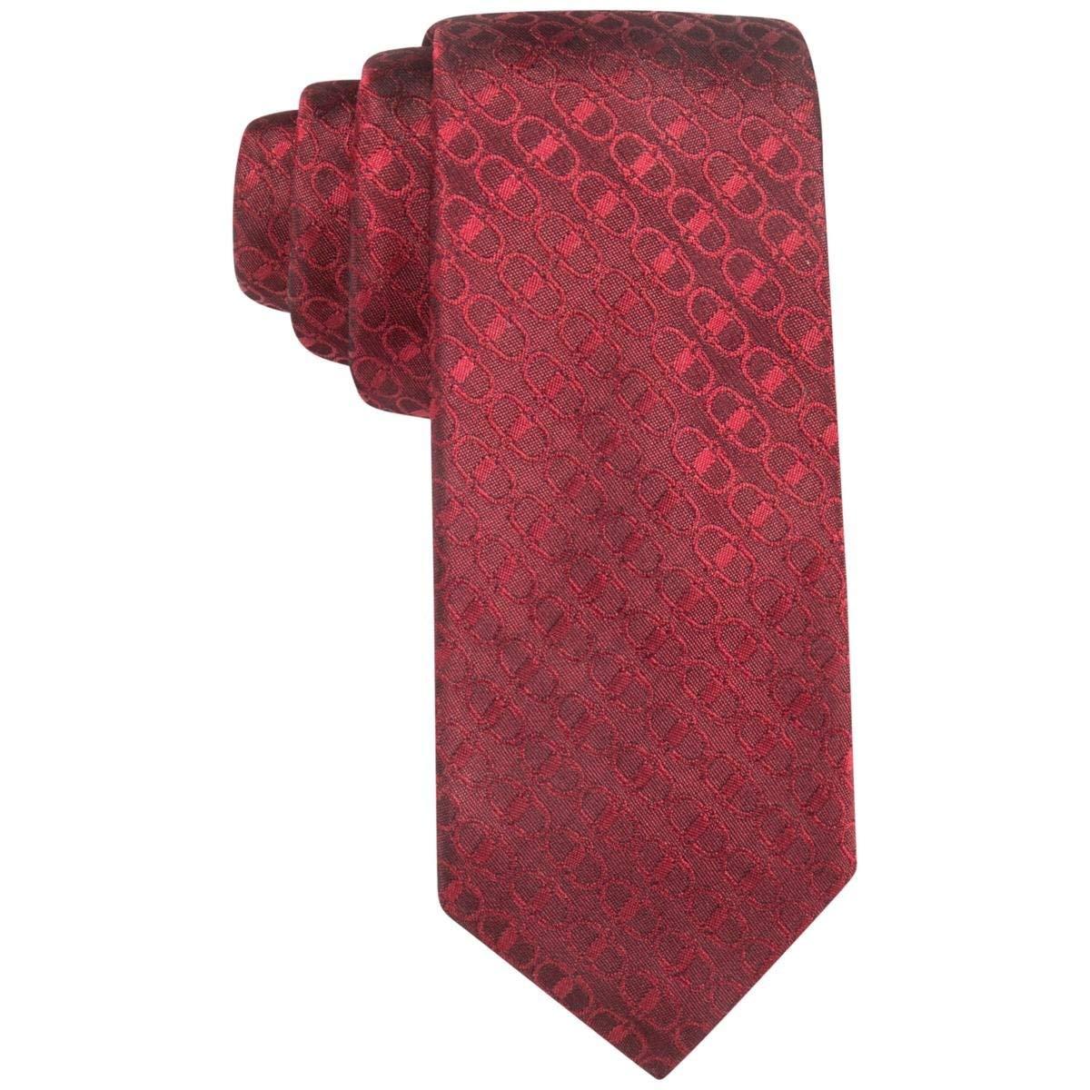 Alfani Buckle Geo Links 100/% Silk Mens Neck Tie