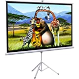 "Onebigoutlet© 100"" Tripod Portable Projector Projection HD Screen Foldable Stand, 87""x49"", 16:9"