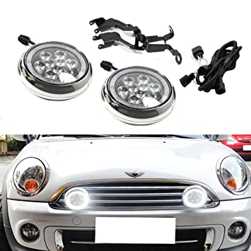 71 IpWOul%2BL._SY355_ amazon com ijdmtoy chrome finish led rally driving lights with  at eliteediting.co