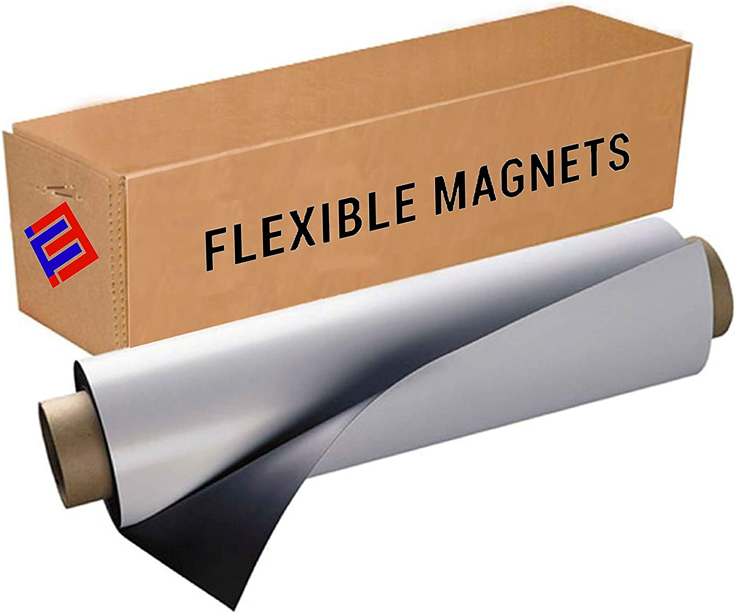 """Flexible Vinyl Roll of Magnet Sheets - White, Super Strong & Ideal for Crafts - Commercial Inkjet Printable (24"""" x 30"""" x 30 mil)"""