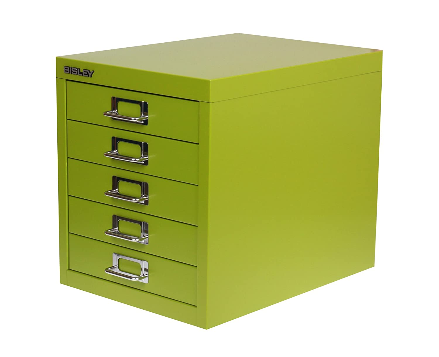 Bisley Desktop Cabinet 5 Drawer H330xW279xD381mm Steel - Color: Green