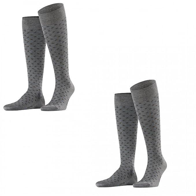FALKE - Calcetines hasta la rodilla - Lunares - para hombre Steel Melange (3165)