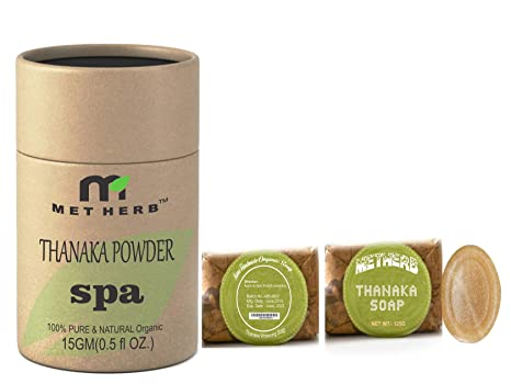 Metherb Thanaka Powder 15 G With Thanaka Soap 125 G For