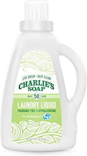 product image for Charlie's Soap Laundry Liquid (50 Loads, 1 Pack) Natural Deep Cleaning Hypoallergenic Laundry Detergent – Safe, Effective and Non-Toxic