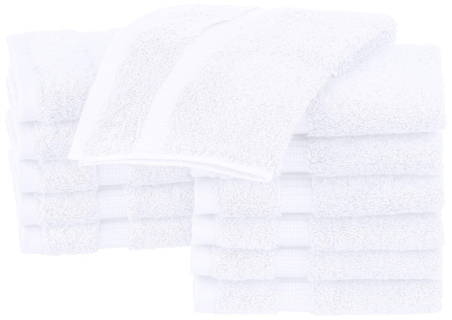 Pinzon Organic Cotton Washcloths (12 Pack), White