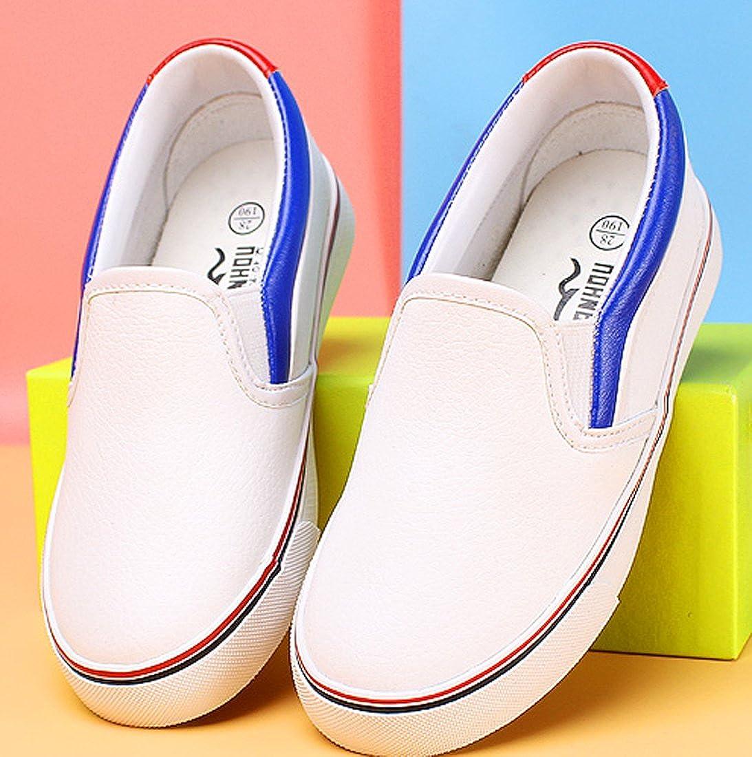 VECJUNIA Boys Girls Casual Slip-On Light-Weight Loafers Anti-Slip Flats Toddler//Little Kid//Big Kid