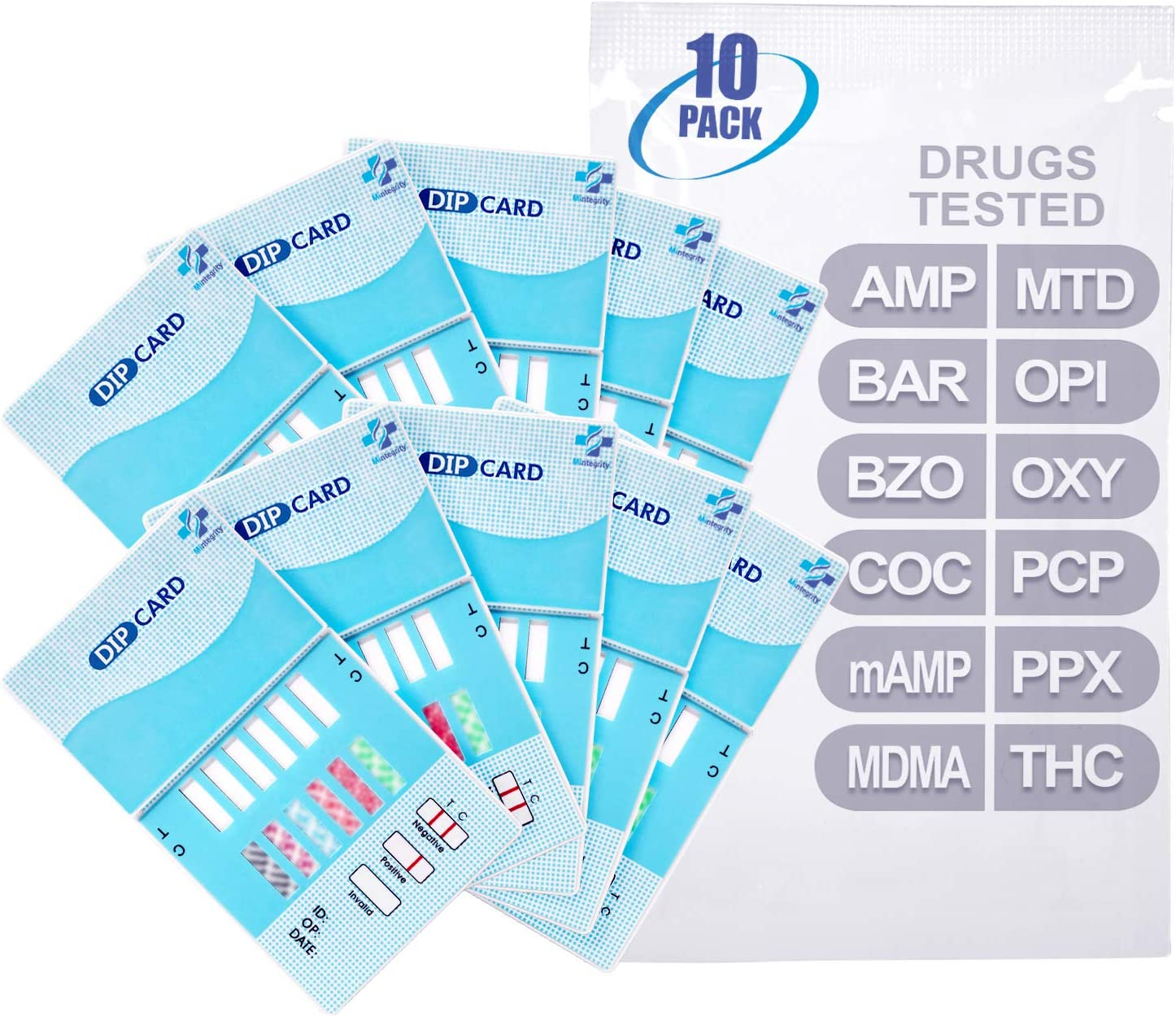 Amazon Com Micare 10pk 12 Panel Urine Test Card Amp Bar Bzo