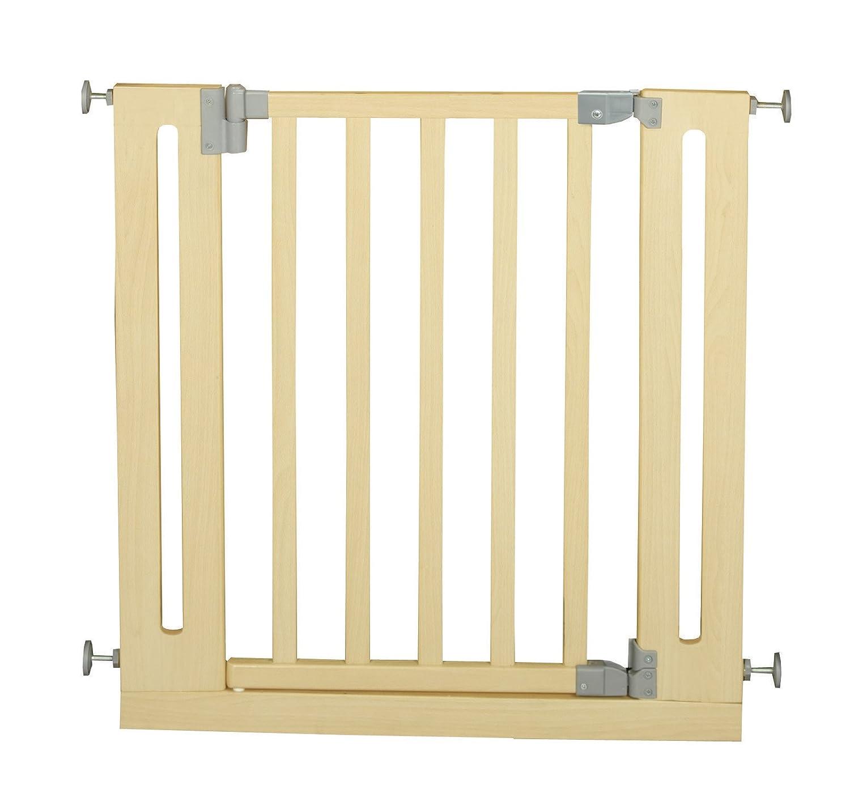 roba Türschutzgitter zum Klemmen, Schutzgitter natur, Klemmgitter mit variabler Breite 77-86cm, Tür- und Treppengitter für Kinder und Haustiere B000UYWGWQ