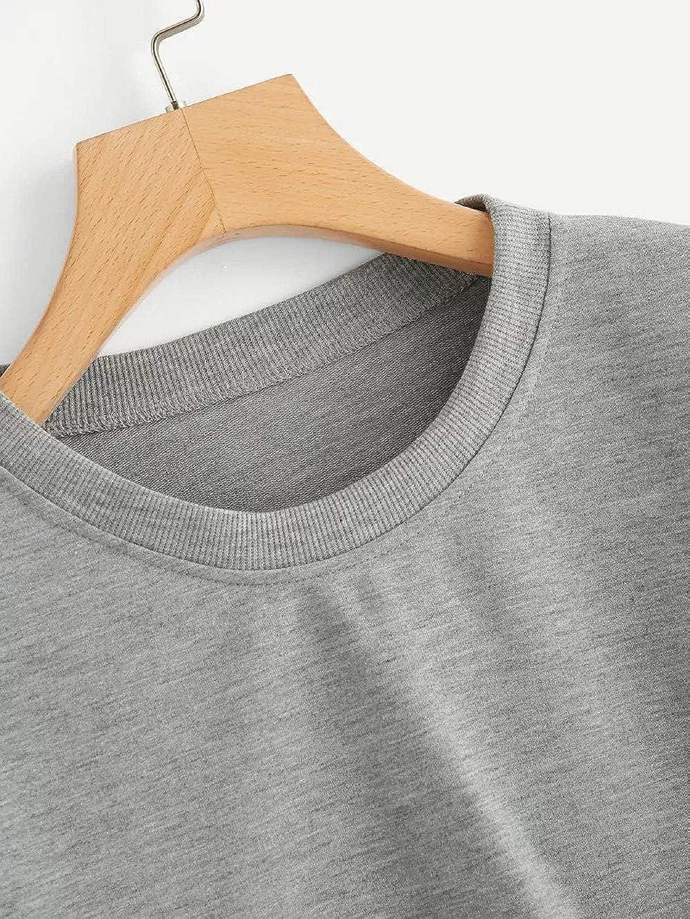 LEEDY Camiseta de Manga Larga con Remiendo en Arco Iris con Remiendo en Forma, Blusa sin Mangas con Cuello Redondo: Amazon.es: Ropa y accesorios