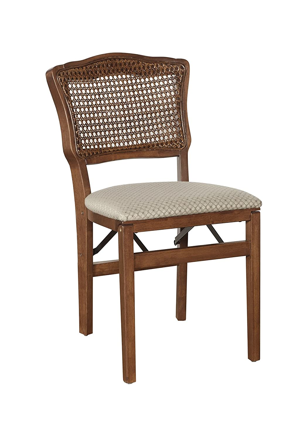 Stakmore French Cane Back Folding Chair Finish, Set of 2, Fruitwood
