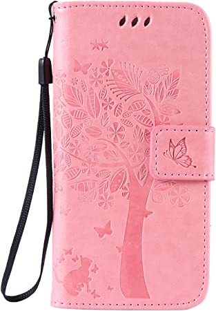 6s 4.7 Inch Rose rouge 6s 4.7 Inch coque,gaufr/é papillon PU cuir Portefeuille flip Stand coque pour Apple iPhone 6 C-Super Mall-UK Apple iPhone 6