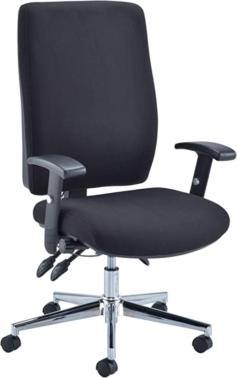 Office Hippo Ergonomic Office Chair Lumbar Support Orthopedic Office Chair With Arms For Home Office Fabric Black Amazon Co Uk Kitchen Home