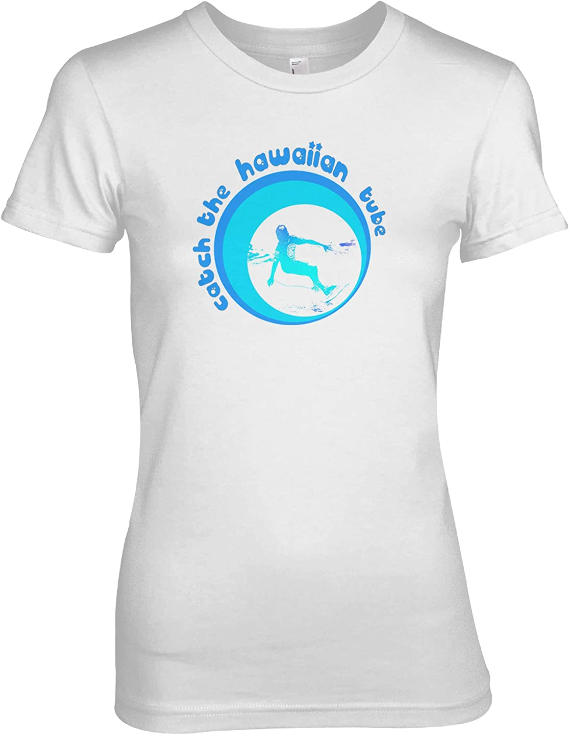 Hawaiian Tube Surfer Womens T-Shirt White