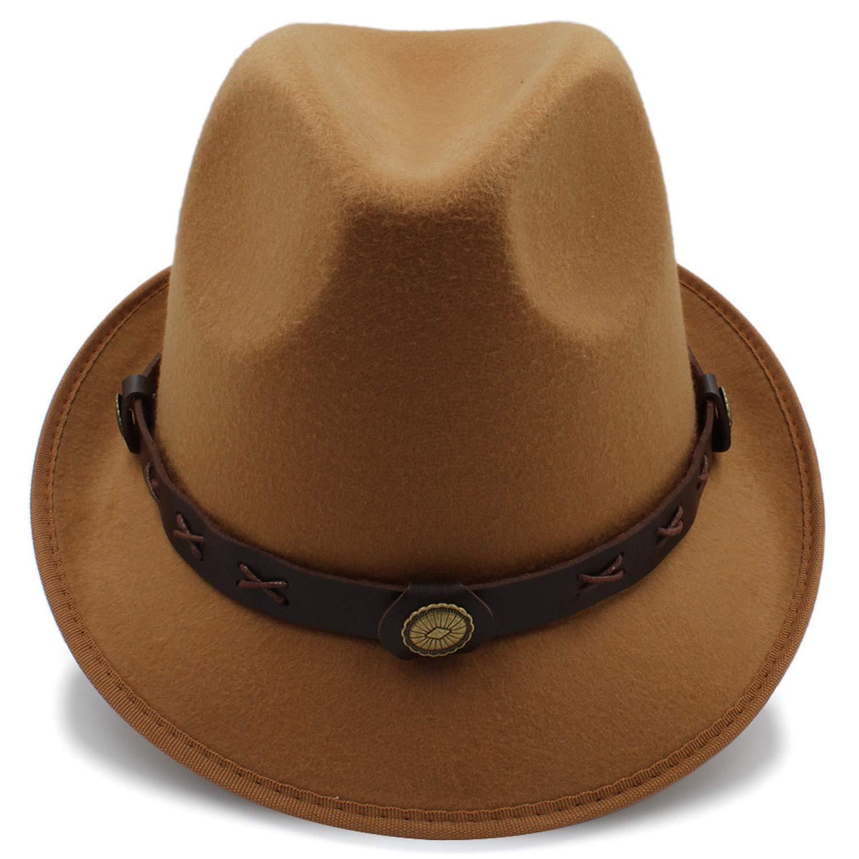 ANDERDM Fashion Dad Men Fedora Hat for Winter Autumn Elegant Gentleman Gangster Trilby Felt Homburg Church Jazz Hat