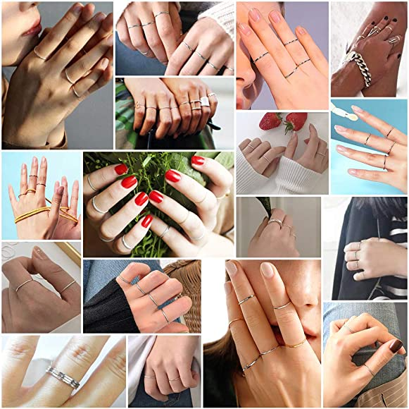 Statement Ring,couple rings Adjustable minimalist Ring Splint Knuckle Ring Simple Midi Ring anxiety Ring Sterling Silver Ring for Women