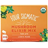 FOUR SIGMATIC Lion's Mane Mushroom Elixir Mix (20 Packets), 3g