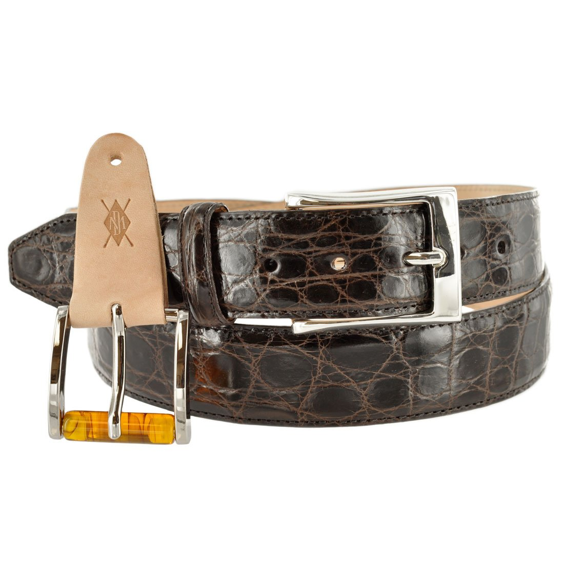 Dingman Dawson Crocodile Belt 40 Brown