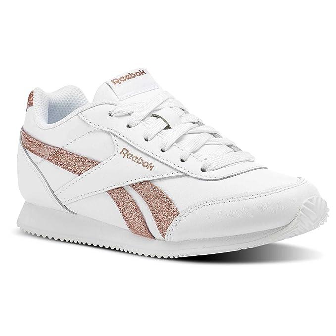 647b431b4f Reebok Royal cljog 2 - Sport Shoes, Girls, White - (White/Rose Gold  Sparkle): Amazon.co.uk: Sports & Outdoors