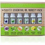 Aroma2Go 100% Pure 5ml Essential Oils Set   Peppermint, Lavender, Sweet Orange, Lemon, Tea Tree & Eucalyptus (Six Pack Essentials)