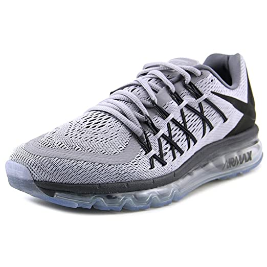 Amazon.com  Nike Men s Air Max 2015 Running Shoe Wolf Grey Black Drk ... 4313d0e599