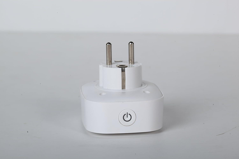 Caja de enchufe inteligente con contador, interruptor y sensor de corriente inalámbrico, Smart Home Alexa con WiFi, control a través de la aplicación en el teléfono, mide el consumo de electricidad: Amazon.es: