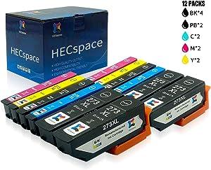 HECspace Remanufactured Ink Cartridge Replacement for Epson 273XL 273 XL T273XL for Expression XP800 XP820 XP810 XP610 XP620 XP520 XP600 (4 Black,2 Photo Black,2 Cyan,2 Magenta,2 Yellow)