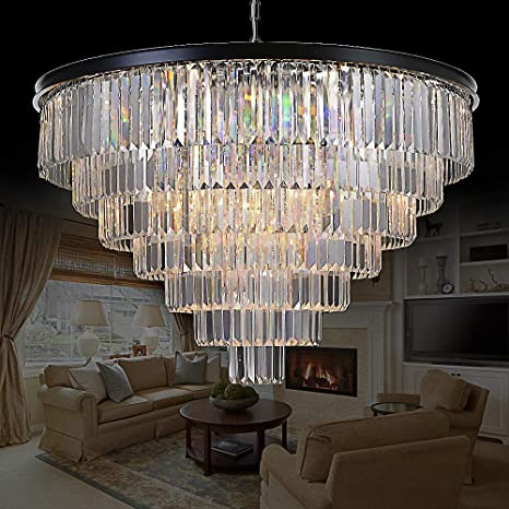 Amazon meelighting 24 lights empress crystal chandelier meelighting 24 lights empress crystal chandelier lighting modern contemporary chandeliers pendant ceiling lamp lights fixture 7 aloadofball Images