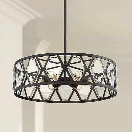 Lexington 26 Wide Bronze And Crystal 6 Light Pendant