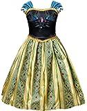 HenzWorld Elsa Anna Dress Costumes Halloween Snow Princess Birthday Party Cosplay Accessories 2-10 Years