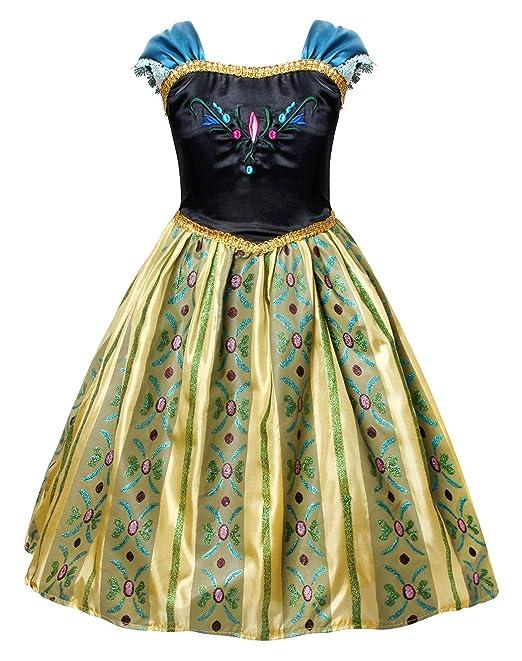 Anna Princesa Disfraz Traje Parte Las Niñas Vestido para ...