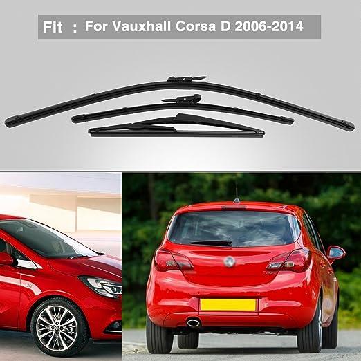 Keenso Limpiaparabrisas Delantero para Vauxhall Corsa D 2006 - 2014: Amazon.es: Deportes y aire libre