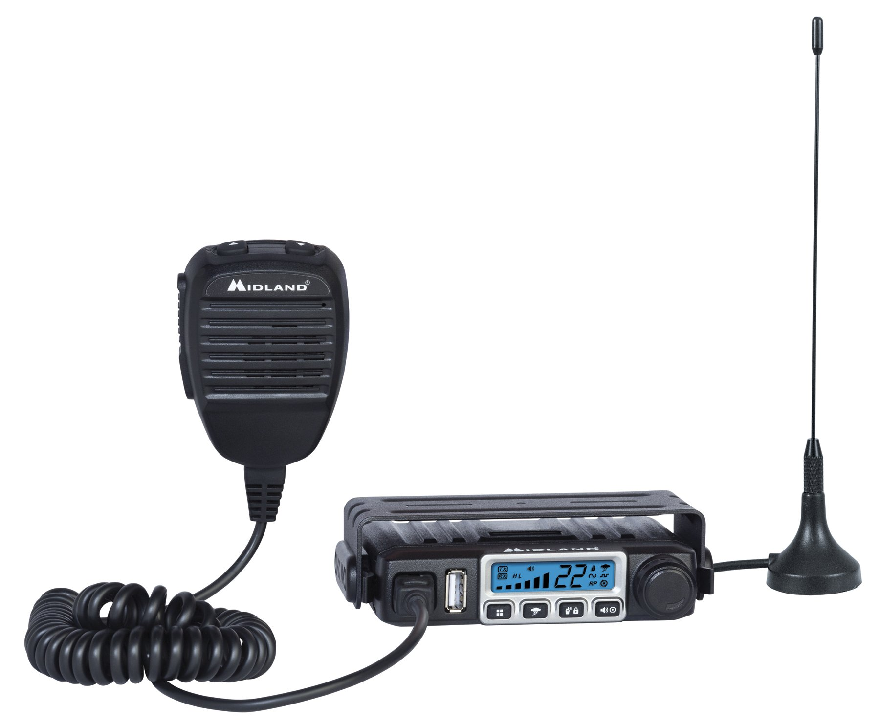 Midland Consumer Radio MXT115 Micro Mobile 15W Gmrs Radio with Weather, 8 Repeater Channels & Magnetic Mount Antenna by Midland (Image #1)