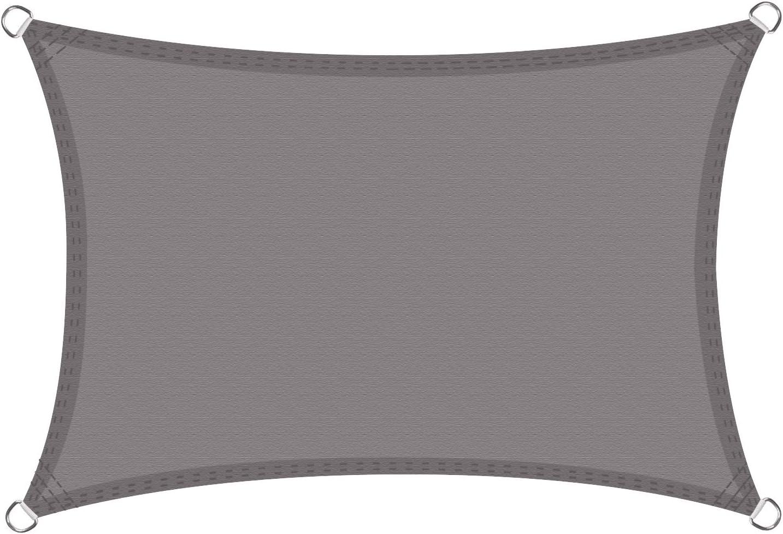 Cool Area Toldo Vela de Sombra Impermeable rectángulo 3 x 5 Metros protección UV, Color Gris