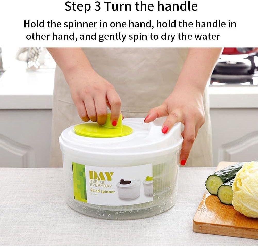 hinffinity Grand S/échoir /À L/égumes Et /À L/égumes Spinner Dryer S/échoir /À Salade Et /À des L/égumes Manuel Spinner Dryer S/échoir /À L/égumes pour Cuisine