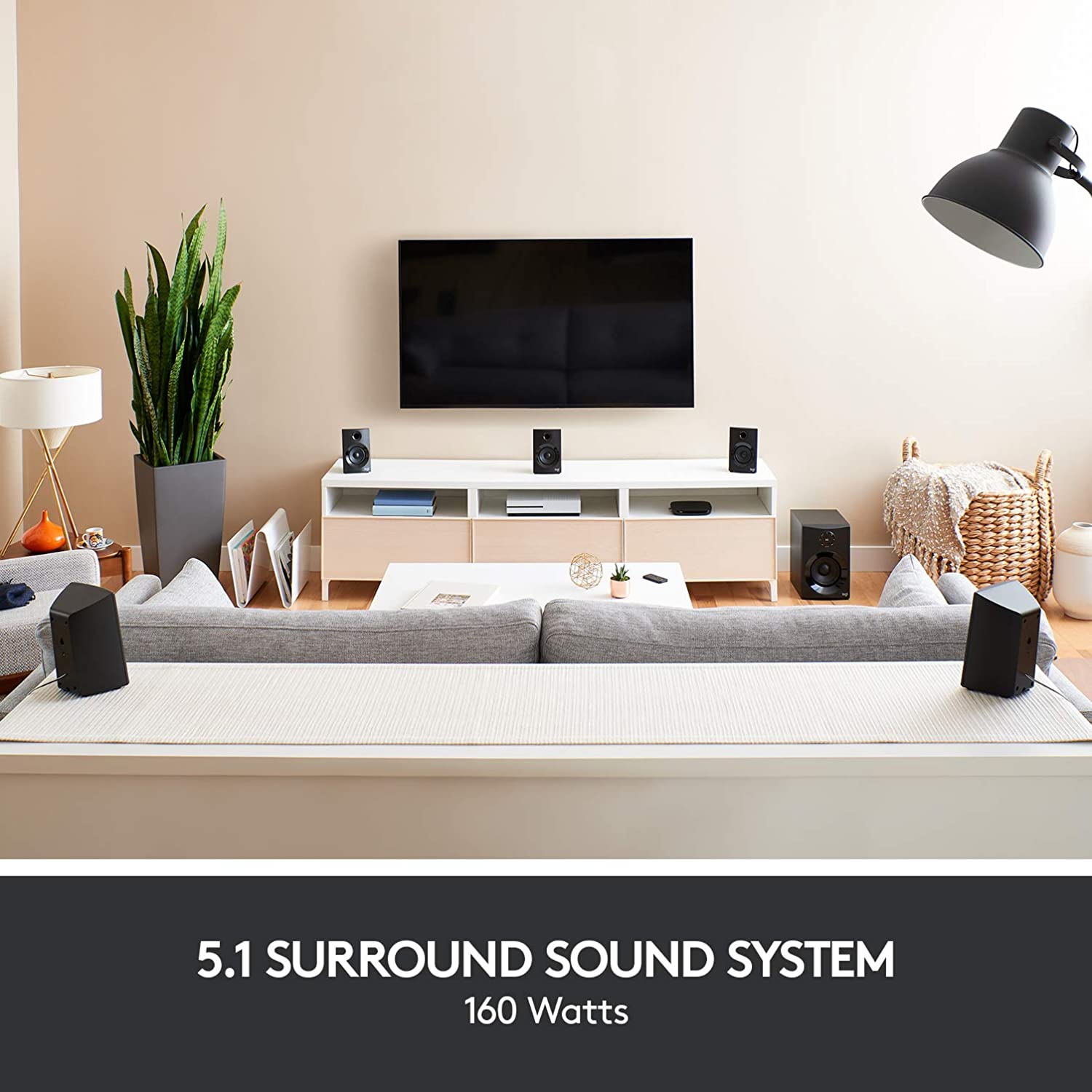 Logitech Z607 51 Surround Sound Speakers Bluetooth Rca 160 W Home Theater 5 Speaker Wiring Diagram Also 7 1 Peak Remote Control Compatible With Computers Pc Tvs Phones And Tablets