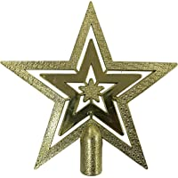 1 Adet Gold (Altın) Renginde Yıldız Yılbaşı Ağacı Tepesi Süsü
