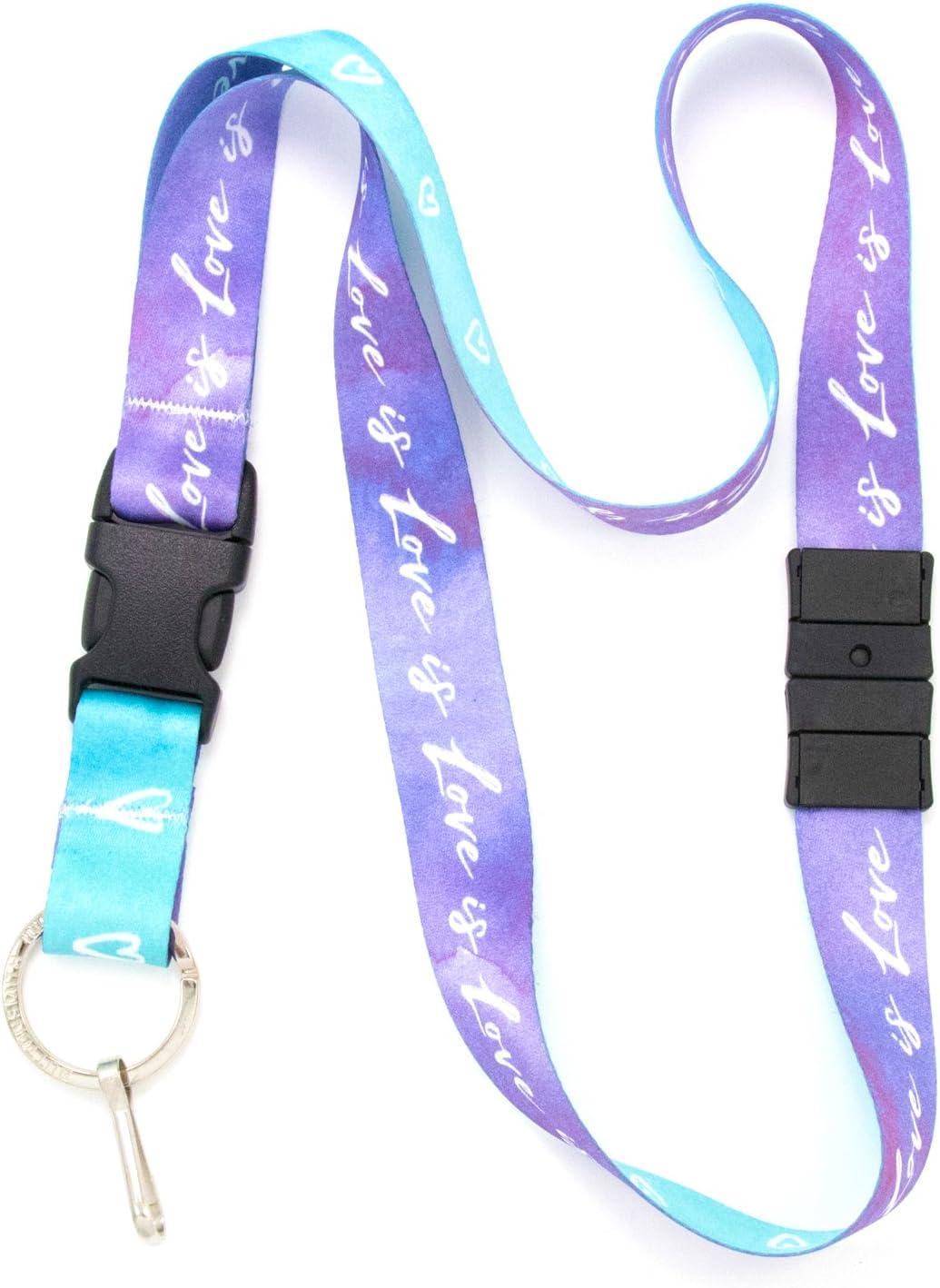 Personalize Customize Monogram Breakaway Heavy Duable Fabric and Webbing Lanyard
