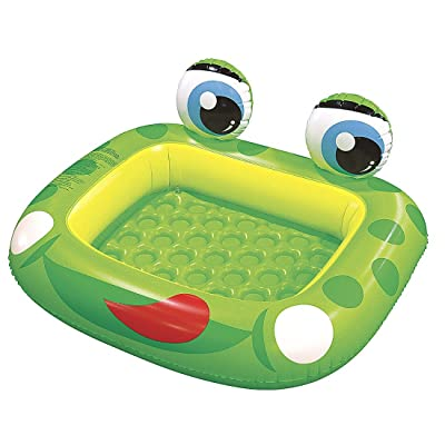 "Jilong Inflatable Frog Baby Pool for Ages 1-3, 50"" x 43"" x 8.7"": Toys & Games"