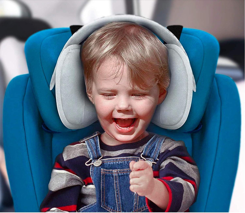 Color Gris Regulable para Beb/és y Ni/ños Babify Soporte de Cabeza para Sillas de Coche