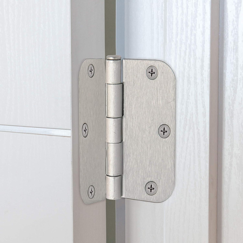 3.5 X 3.5 Oil Rubbed Bronze Design House 202499 6-Hole x 3 1//2 5//8 Radius Door Hinge