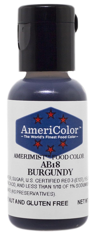 AmeriColor AmeriMist Burgundy Airbrush Food Color, .65 oz.