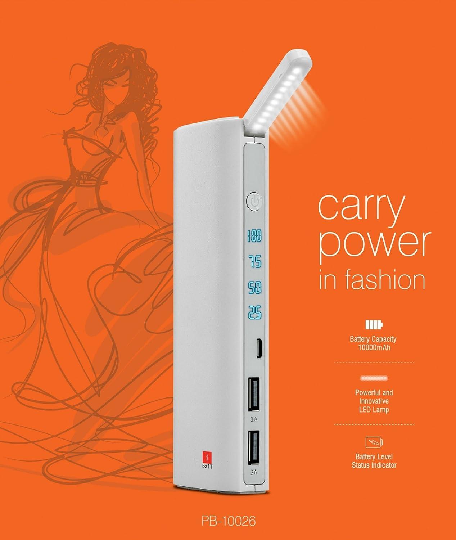 Iball 10000 Mah Power Bank With Battery Level Status Indicator Electronics