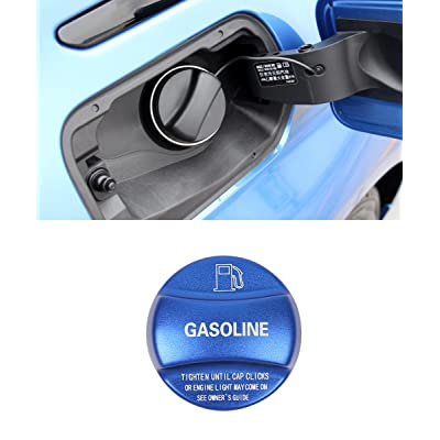 YIWANG Aluminum Alloy Gas Fuel Tank Cap Cover Trim 1PC For BMW X1 X2 X3 X4 X5 X6 F10 F15 F16 F25 F26 F30 F34 F35 F48 F47 G30 G38 Auto Accessories (Blue): Automotive