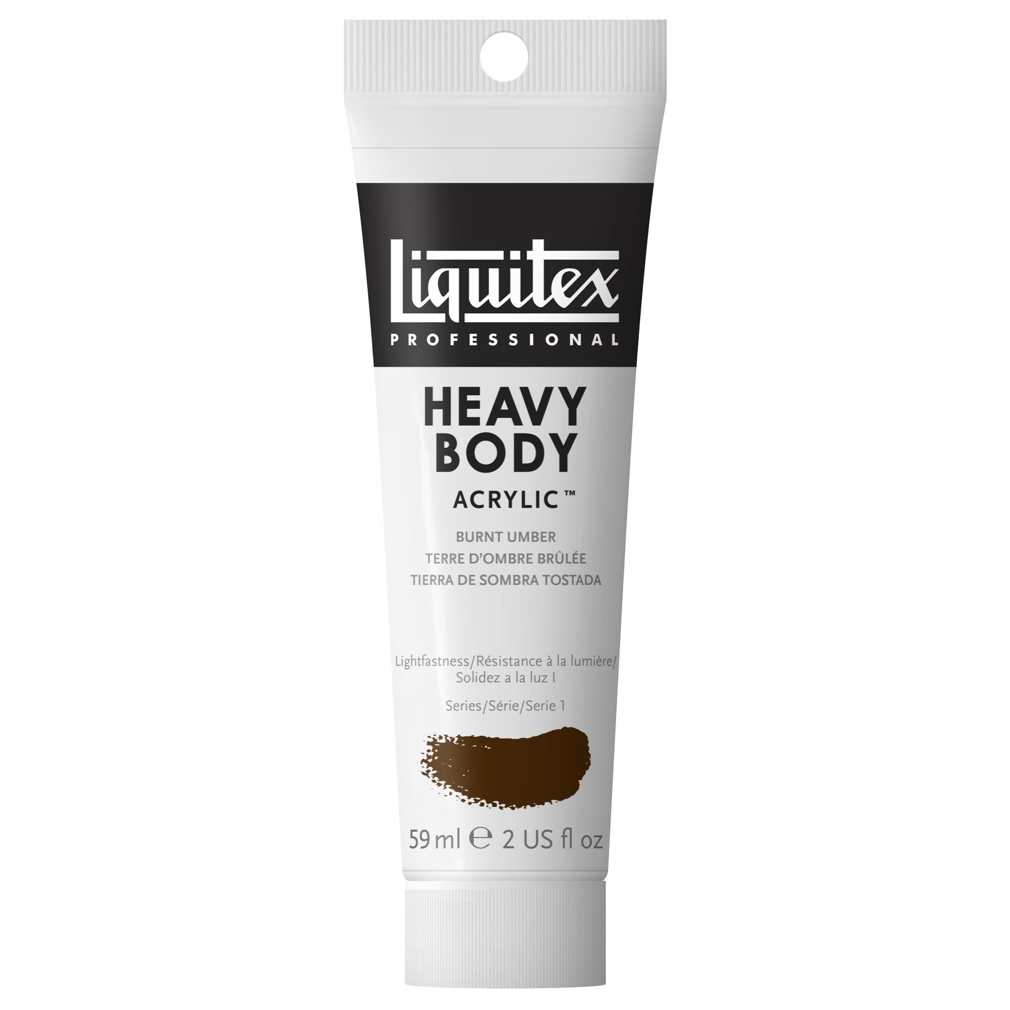 Liquitex Professional Heavy Body Acrylic Paint, 2-oz Tube, Burnt Umber