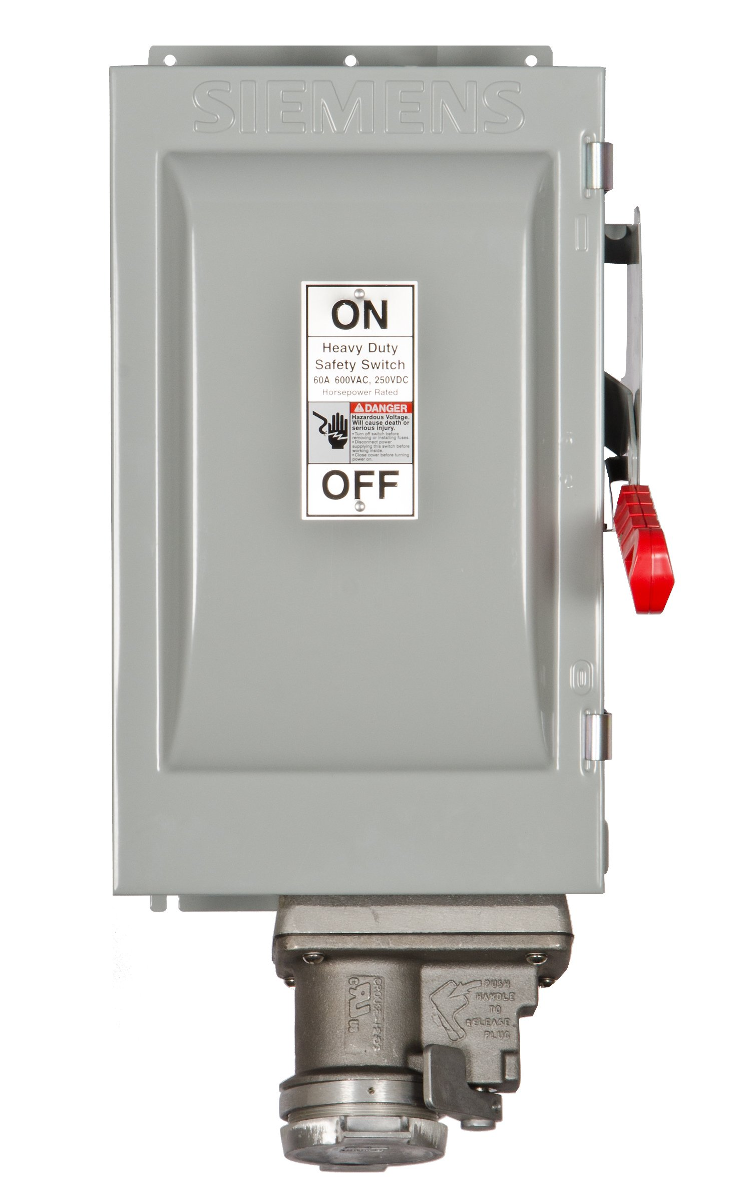 Siemens HF362JCH 60-Amp 3 Pole 600-volt Fused with Receptacle Safety Switches by SIEMENS (Image #1)