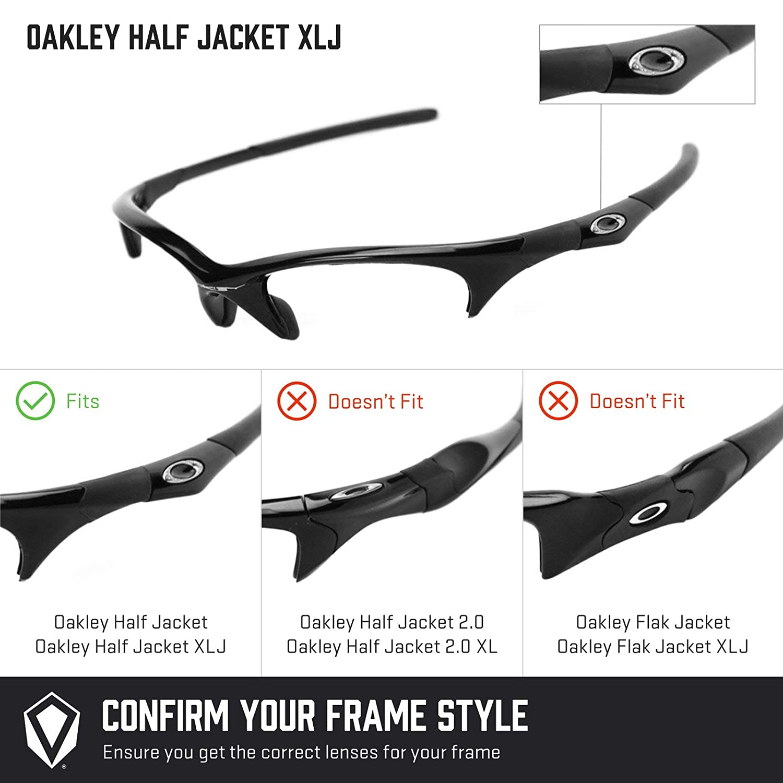 a728dce2c2 Amazon.com  Revant Polarized Replacement Lenses for Oakley Half Jacket XLJ  Elite Black Chrome MirrorShield  Sports   Outdoors