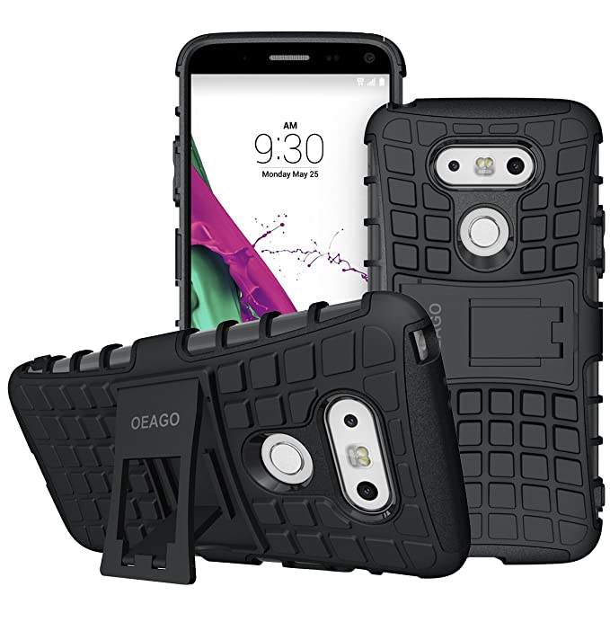 Amazon.com: LG G5 Case, OEAGO LG G5 Cover Accessories - Tough Rugged Dual Layer Protective Case with Kickstand for LG G5 - Black: Cell Phones & Accessories