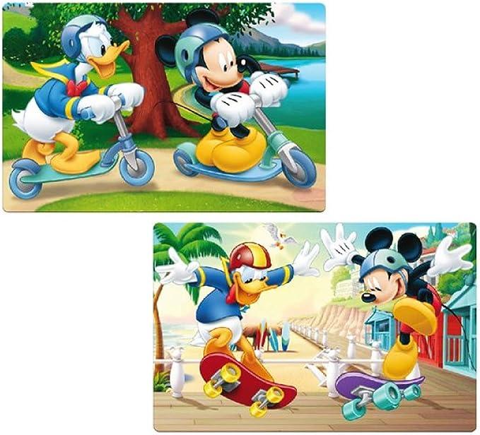 Mickey Mouse Disney Idea de Regalo para Niños – 2 mesa documentos/Juego mesa /mesa alfombrillas/Manteles individuales/essunterlage/Espacio Set/placemat de plástico lavable – M02: Amazon.es: Hogar