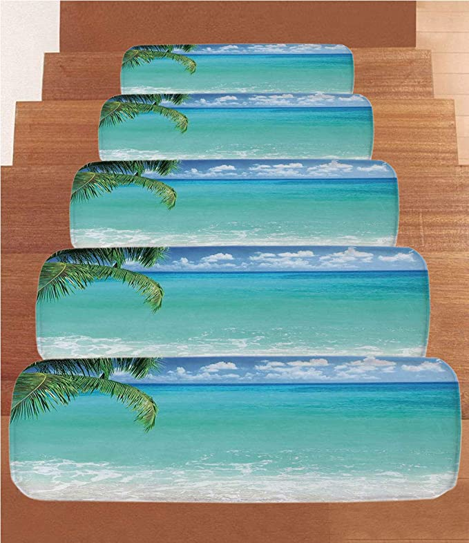 Amazon.com: Ocean Decor Coral - Alfombrillas para escalera ...