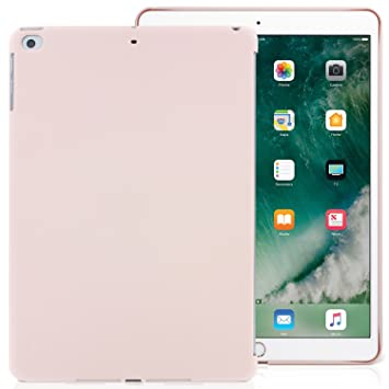 KHOMO Carcasa Funda Trasera Rosa Arena iPad 9.7 2018, 2017, iPad Air - Compatible con Smart Cover - Apple iPad 9.7 2018 y 2017 - Companion Pink Sand
